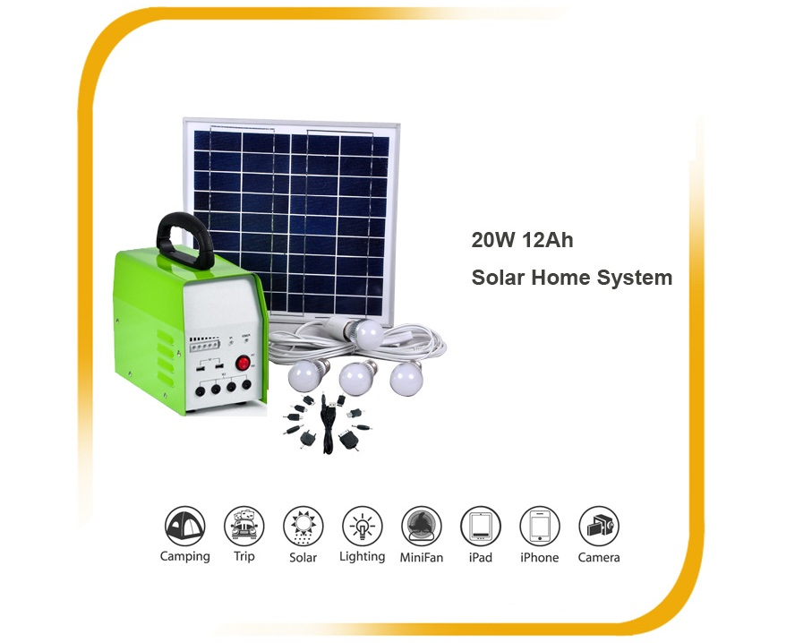 KIT SOLAR POWER SYSTEM 20W